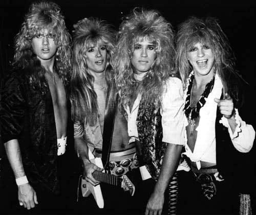 Randy, Chris, Laine, Joey @ The Whisky 1987